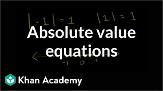 Absolute Value Equations