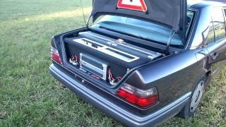 3000 Watt Hertz Audison Alpine Anlage MB W124