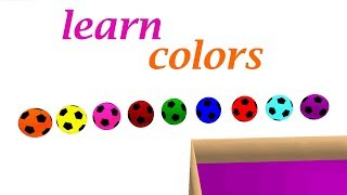 Learn colors with Baby and balls   Colors Collection for Children   Colors Ball for Kids Toddlers