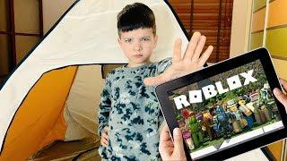 Ребенок устроил ЗАБАСТОВКУ! Поможет ли РОБЛОКС Денису? Kids Pretend Play
