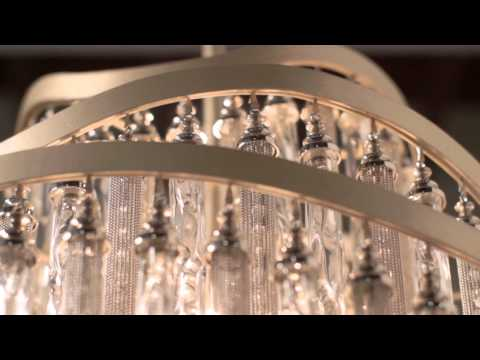 Video for Chimera Tranquility Silver Leaf Four-Light Semi-Flush