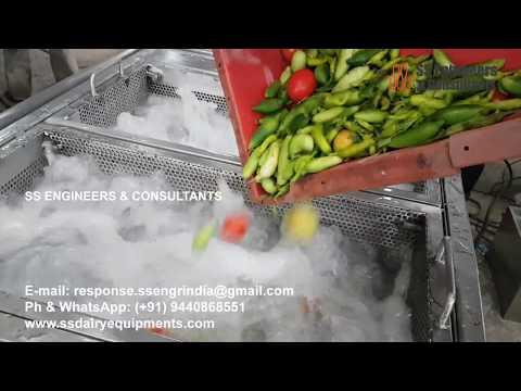 Vegetable/Fruit Top and Bottom Spray Washing Machine