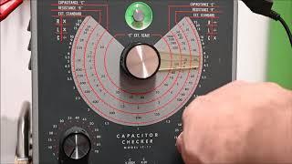 Kondensatoren prüfen mit dem Heathkit Capacitor Checker