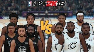 Team Stephen vs. Team LeBron - 2018 NBA All-Star Game - NBA 2K18 - Full Gameplay