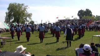 preview picture of video 'Ottawa Police Services (Gr2), MSR, Cobourg Highland Games, 2013'