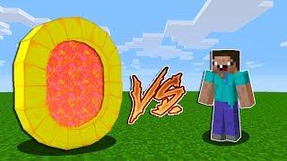 NOOB VS %100 TROLL YUVARLAK ALTIN PORTAL! - Minecraft