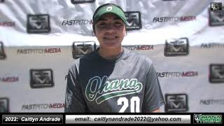 2022 Caitlyn Andrade First and Third Base Softball Skills Video - Ohana Tigers