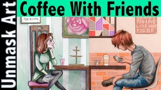 Drawing A Hipster Iphone User | Coffee With Friends: H.I.T Art Collaboration