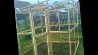 preview picture of video 'mała szklarnia ogrodowa budowa krempna 2012'