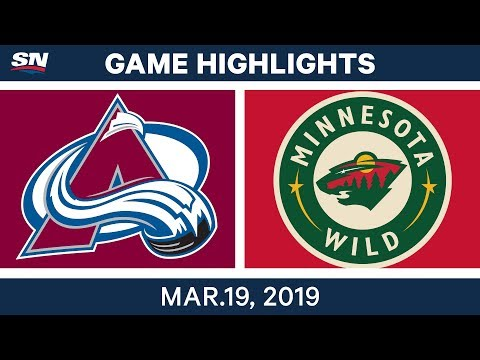 NHL Game Highlights | Avalanche vs. Wild - March 19, 2019