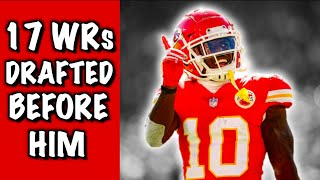 Who Were The 17 Wide Receivers Drafted Before Tyreek Hill? Where Are They Now?