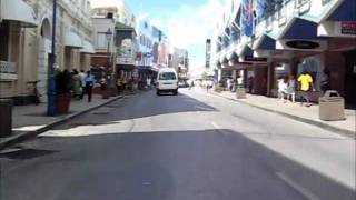 preview picture of video 'Barbados Bicycle cam # 20 [Broad street, Bridgetown]'