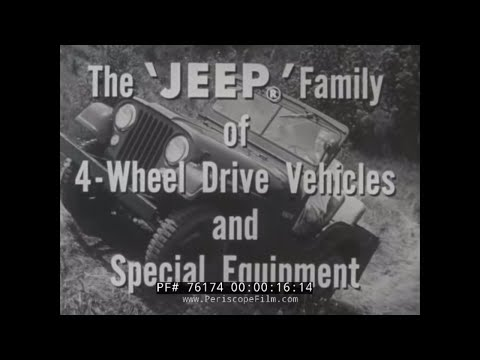 1940s WILLYS JEEP PROMOTIONAL FILM  -- THE JEEP FAMILY OF 4 WHEEL DRIVE VEHICLES   76174