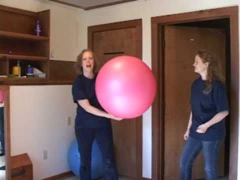 Screenshot of video: Autism support Son-Rise activities using a therapy ball