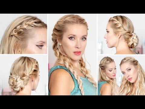 Причёски на каждый день, быстро и легко, на праздники, Новый Год,  для средних/длинных волос