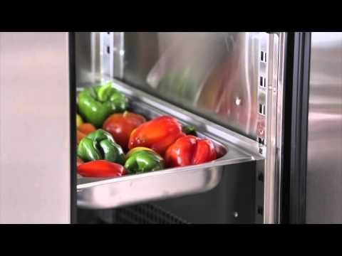 Video Desserte réfrigérée tropicalisée 3 portes profondeur 600mm ATOSA
