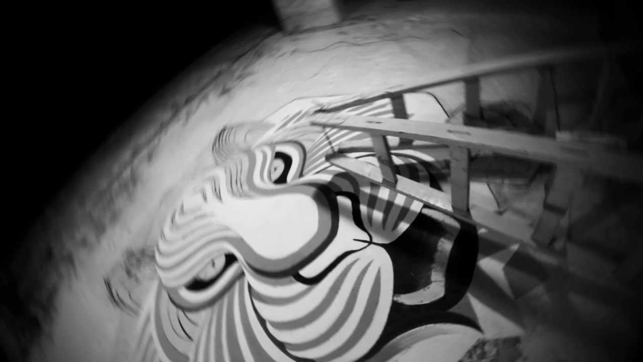 graffiti street art 3d mural tiger by