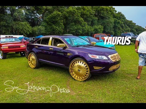 Super Clean Ford Taurus on ALL GOLD Davins Wheels in HD (must see)