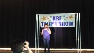 """Katy Brown KRE talent show """"Ours"""""""