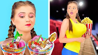 HOW TO SNEAK SWEETS INTO THE MOVIES!    Funny Tiktok Ideas by 123 Go! Gold