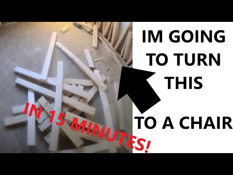 Guy Builds a Beach Chair in Less than 15 min out of scrap wood