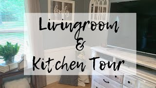 Mobile Home Kitchen & Livingroom Tour/ Farmhouse Style On A Budget