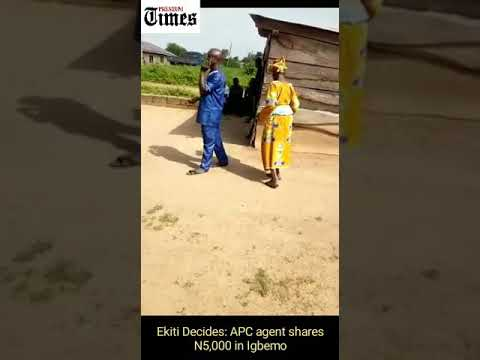 Ekiti Election: Video exposes party agent allegedly bribing voters during election