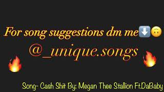 Cash Shit   Megan Thee Stallion Ft.DaBaby (Slow)