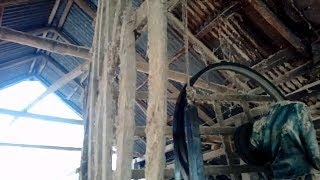 A Lot of People required to Cutting Huge Quantity of Wood in Rural Saw Mill of Asia-Bangladesh
