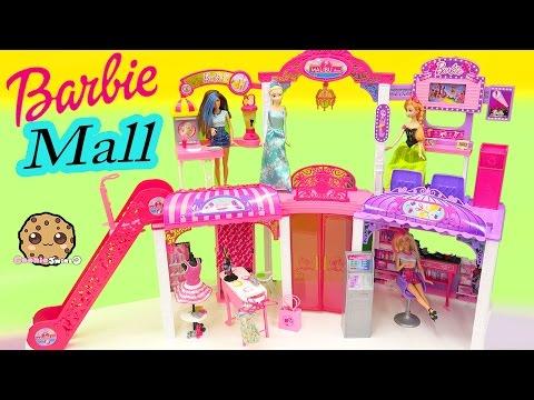 Disney Queen Elsa & Princess Anna Shop at Barbie Malibu Mall Playset - Toy Video Cookieswirlc