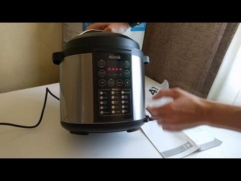 Aicok - Olla programable a presión eléctrica programable, 6 litros