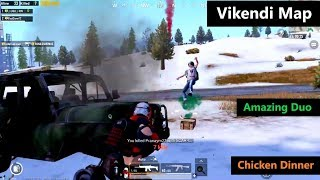 [Hindi] PUBG Mobile | Amazing Duo Match In Vikendi Map Chicken Dinner