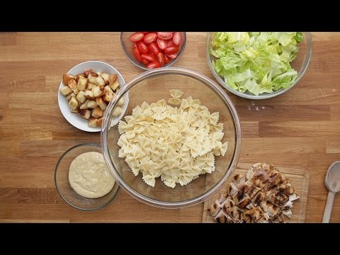 Grilled Chicken Caesar Pasta Salad