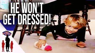Toddler Refuses To Get Dressed | Supernanny