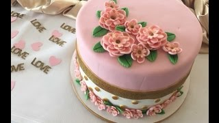 Pretty In Pink Bridal Shower Cake