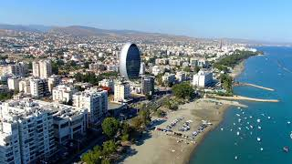 Limassol Coast fly-by from Limassol Marina to Parklane in 4K shot with Mavic 2 Zoom
