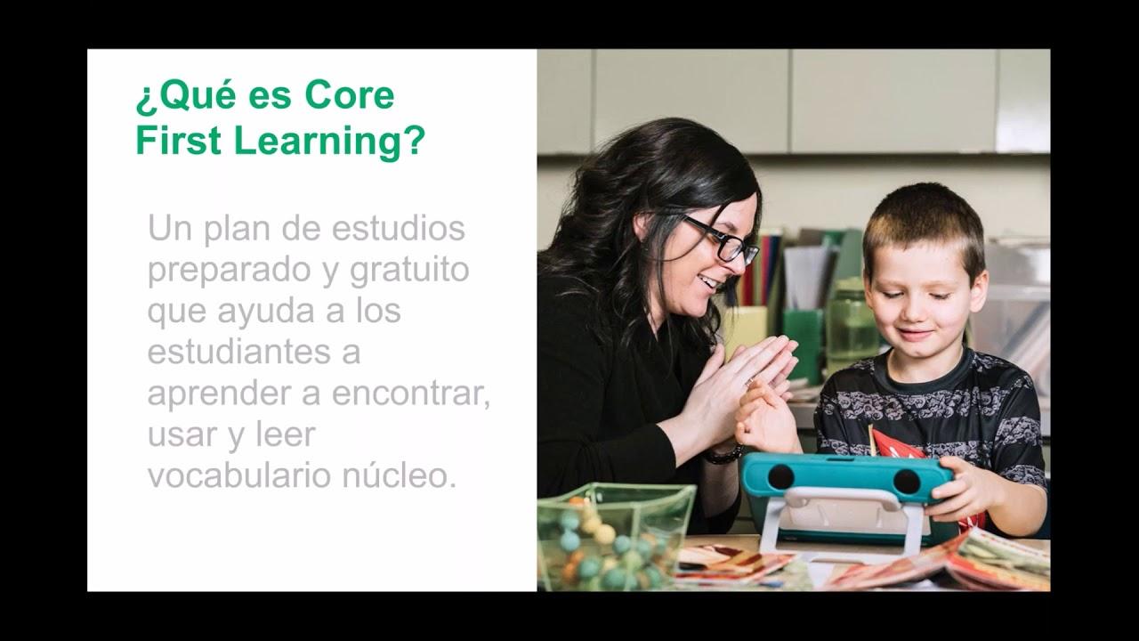 Del lenguaje a la lectoescritura con Core First Learning
