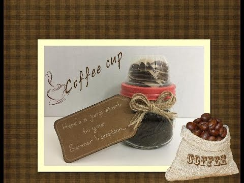 Gift EVERYTHING you need for a Pot of Coffee in a Mason Jar!!!!