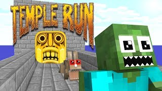 Monster School: TEMPLE RUN CHALLENGE - Minecraft Animation