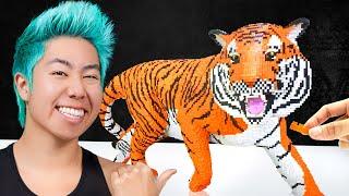 Best 100,000 Lego Art Wins $5,000 Challenge! | ZHC Crafts