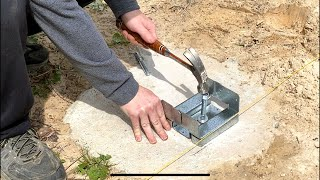 """Barret's Deck Project - EP 3 - 6"""" x 6"""" Simpson Post Bases and Tips!"""