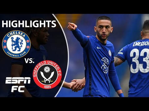 Chelsea vs. Sheffield United: Pulisic flashes skill and Hakim Ziyech scores | ESPN FC Highlights