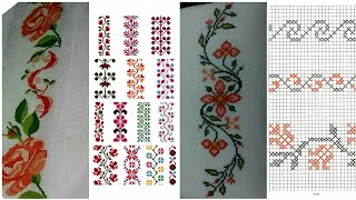 Border Line Cross Stitch Pattern Beautiful Collection.