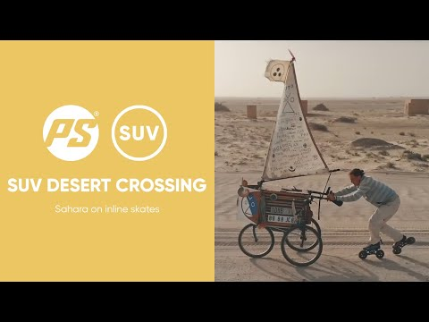 Inline Nomad Sahara crossing on skates