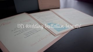 DIY Wedding Invitation Inserts | Wedding Planning
