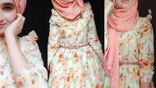 DIY - Latest Maxi Dress /stylish Arabic Dress Full Tutorial