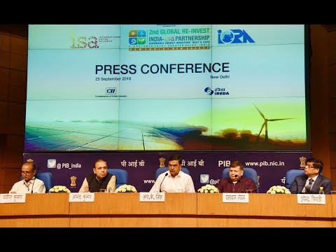 Curtain Raiser Press Conference by Union Minister R.K.Singh on 2nd Global Re-Invest