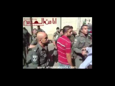 انهيار مسن فلسطيني اثر اعتداء قوات الاحتلال عليه بالقدس المحتلة