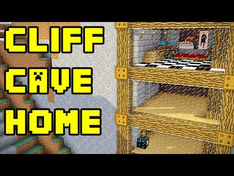 Minecraft: Simple Cliff Cave House Build Tutorial