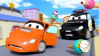 谁偷了冰激凌 - 警车和消防车在汽车城 🚓 🚒 国语中文儿童卡通片 Car City 動畫合集 - Chinese Police & Firetruck Cartoons for Kids